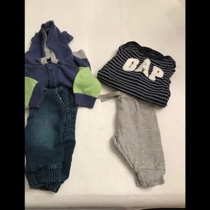 Two 0-3 month GAP infant outfits